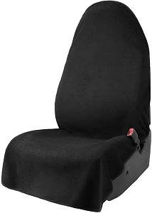 Leader Accessories Black Waterproof Sweat Towel Car Front Seat Cover