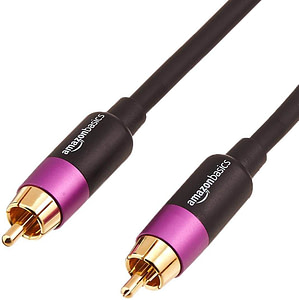 Amazon Basics RCA Audio Subwoofer Cable