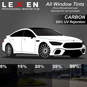 LEXEN 2Ply Carbon All Windows PreCut Tint Kit